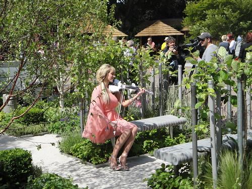 Violinist in Deaf Trust Garden