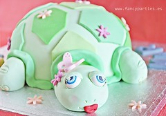 Cute Turtle Cake 2/5 (Fancy Parties) Tags: birthday sea green cake butterfly turtle 6th fondant cuteturtle fancyparties