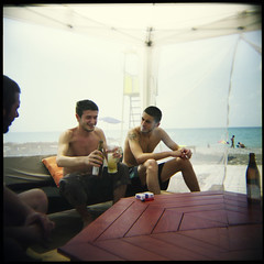 (...cathzilla) Tags: portrait men beach beer georgia holga colours guys tent blacksea dolcevita sakartvelo rezo batumi bijo batum ajaria r706 natakhtari
