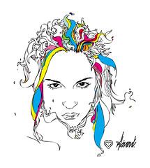 ELI illustration (Kliment*) Tags: woman girl face illustration design sketch eli graphic drawing illustrator draw vector elisabeth cmyk flickrunitedaward kalcheva elisabethkalcheva
