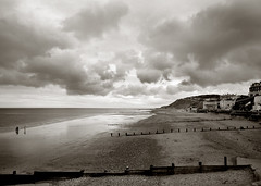 Cromer (* Daniel *) Tags: sea beach clouds sand norfolk cromer heavysky ilfordfp4 northnorfolk id11 victorianbritain