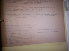 11971 MBALM output on teletype paper