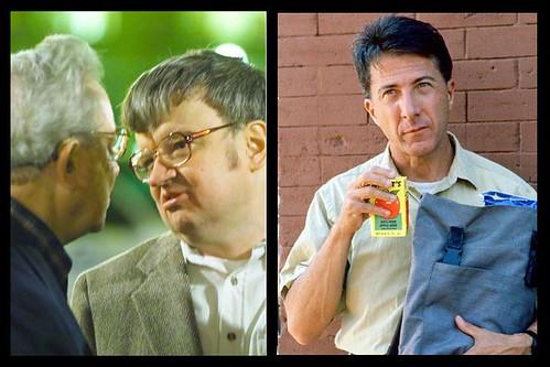 Kim Peek y Dustin Hoffman