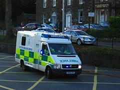 Blues and twos and headlights too! (barronr) Tags: vw volkswagen scotland stirling ambulance sas ae uvmodular scottishambulanceservice