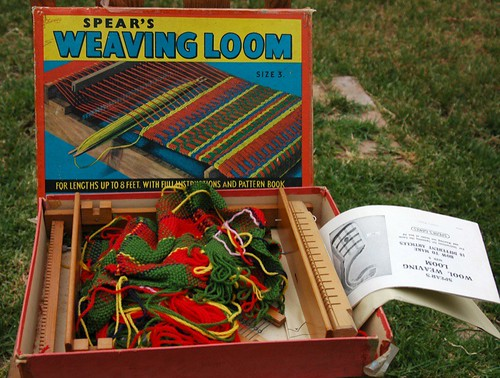 vintage weaving loom