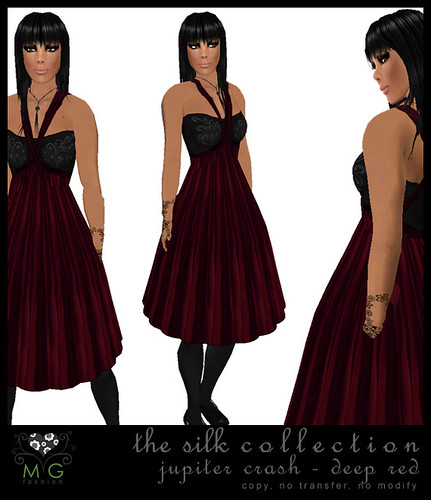 [MG fashion] The Silk Collection - Jupiter Crash (deep red)