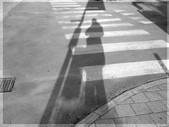 BUS STOP - FERMATA D'AUTOBUS (Novella Regalini) Tags: blackandwhite shadows ombre busstop zebra biancoenero zebracrossing myeverydaylife bnvitadistrada excapture bnvitadistradafotodelmese