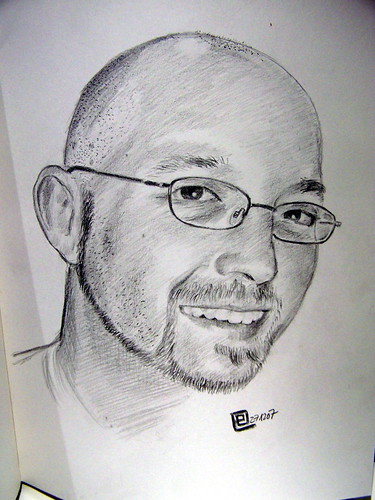 Pencil portrait of yours truly by German artist Ener Popener