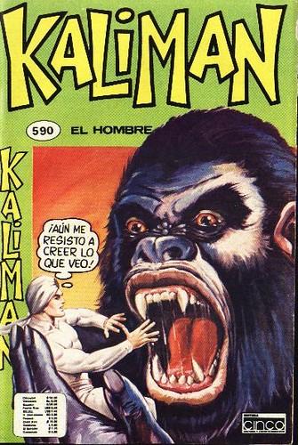 Portada Comics Kaliman El Hombre Increible Cinco 590