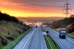 Daybreak on the M48 (-terry-) Tags: road morning sunrise dawn motorway lorry thumbsup avon m48 supershot flickrchallengegroup diamondclassphotographer flickrdiamond sigma70mmf28exdgmacro flickrchallengewinner 15challengeswinner