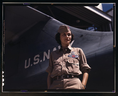 woman in military uniform