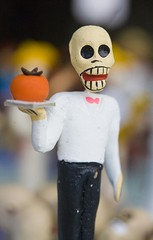 Pumpkin for Lunch (Thomas Hawk) Tags: sanfrancisco california city usa pumpkin dead skeleton one holding day unitedstates unitedstatesofamerica large peach jacket figure type tray missiondistrict figurine without tuxedoclad