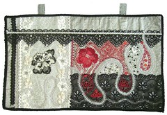 The seperation (Karen Cattoire) Tags: original art handmade embroidery originalart creation fabric beading bjp tissu abstrait arttextile karencattoire fibretextile arttexilte