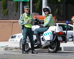 Guardia Civil de Trafico (Oscar in the middle) Tags: de spain guard police spanish civil cop officer guardia motocycle trafico agrupacion motorista