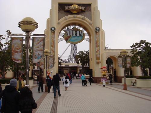 Universal Studios Japan in Osaka, Japan on February 17