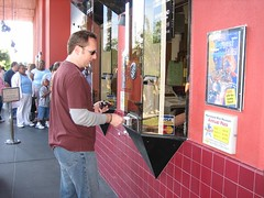 Tim buys tickets — normally $12.95, but they slashed prices to $5 for the final two weeks. (10/29/05)