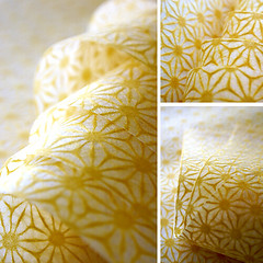 lace japanese paper (karaku*) Tags: yellow paper japanese pattern pentax traditional washi japanesepattern esty lase k100d asanoha