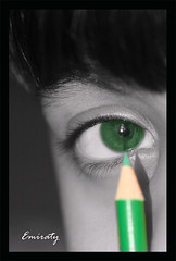 Please color my eyes !!! ( Emiraty ) Tags: black color green eye kids kid eyes please tefdahom