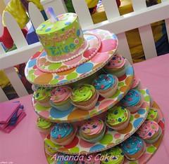 Sydney Elise's 1st Birthday (mandotts) Tags: cupcakes polkadots sprinkles birthdaycake brightcolors 1stbirthday girlsbirthday smashcake bribirthdaycake
