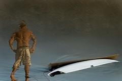 Engrained (Luke Austin) Tags: ocean sea reflection beach sport sand surfer surfboard