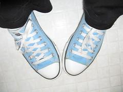 baby blue chucks (gabriella319) Tags: blue white selfportrait black me shoes converse chucks chucktaylors allstars gabriella babyblue
