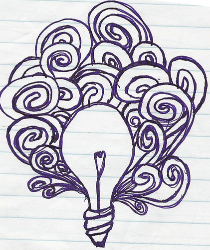 Lightbulb Doodle and Midnight Spaghetti