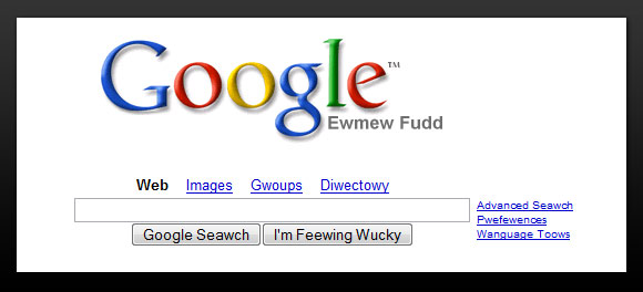 Google Search Elmer Fudd