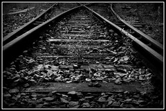 End of the Line v2 (verbo10) Tags: bw lines tracks railway 365day verbo10 allrightsreservedadrianknight