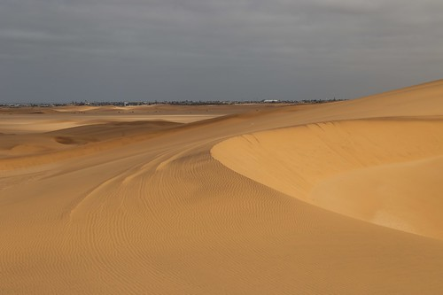 The town from the dunes - Swakopmund