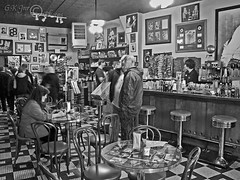 Sun Studio Cafe (Memphis)-03096 (G.K.Jnr.) Tags: blackwhitephotos bw monochrome blackandwhite street candid streetphotography sunstudio memphis usa cafe people portraits interest touristattraction historic tennessee