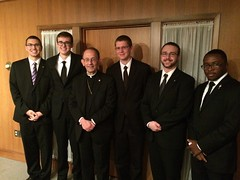 Bishop Persico with Buffalo seminarians - November 2015