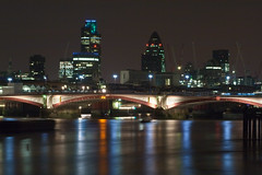 Blackfriars Bridge at Night (Davide Simonetti) Tags: longexposure london thames reflections nightshots 1001nights riverthames blackfriarsbridge beautifulphoto aplusphoto flickraward platinumheartaward