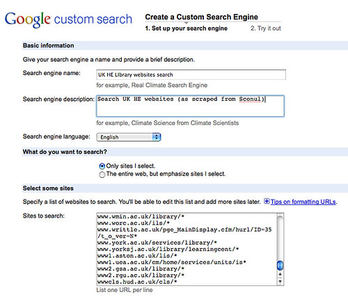 Creating a Google CSE