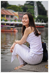 Street Portrait #112 (B.Image357) Tags: portrait woman cute sexy girl beautiful beauty face fashion lady female asian 50mm nikon singapore pretty faces sweet bokeh cityhall strangers streetphotography lifestyle style elegant f18 boatquay clarkquay streetportraits cinematicmoments d90 peopleinthecity candidandstreet