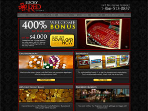 LuckyRed Casino Home