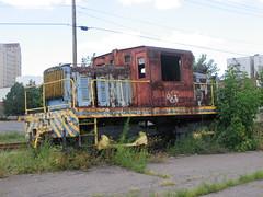 Vulcan 45 Ton (Andy961) Tags: pennsylvania wilkesbarre pa railway railroad train abandoned diesel locomotive industrial vulcan engine rust rusty 45t