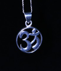 om, ohm or aum (lilgreentreefrog1) Tags: silver philosophy jewelry hinduism mynecklace