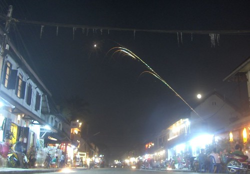 Fireworks for Ban Awk Phansaa festival