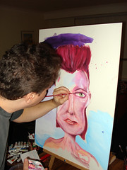 B-B-B-B-B-B-OWIE IN THE MAKING! (VICTOR PROSS: British Columbia artist) Tags: music art rock painting bowie glam ziggy stardust