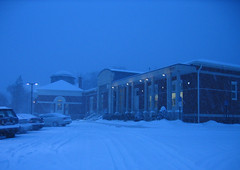 Library in Snow 12-2007