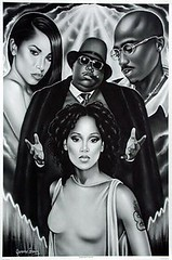 aaliyah left eye tupac biggie
