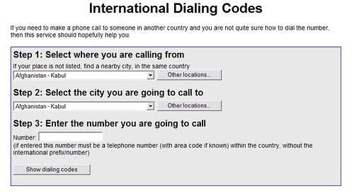 International Dialing Codes - 1 of 2