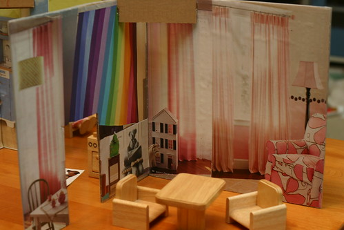 cardboard dollhouse: play room