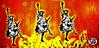 Bristol Graffiti (tim constable) Tags: street uk red orange usa 3 colour art statue america bristol liberty graffiti stencil cross dancing united kingdom social weapon gb cancan aerosol comment ak47 ghostboy