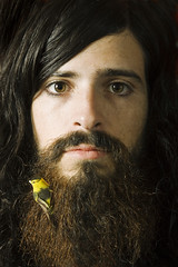 Devendra Banhart (Beyonce Knowles it all) Tags: portrait musician music usa bird philadelphia work beard published pa devendrabanhart signaltonoise
