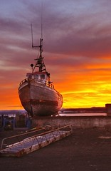In the shipyard ... (asmundur) Tags: sunrise dawn boat iceland ship pointandshoot shipyard tutorial 2xp canonixus60 shipart
