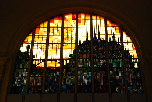 Stained glass window in Gare de Luxembourg