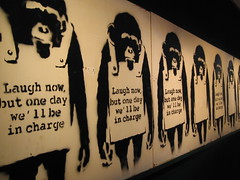 Banksy 'Laugh Now' (Romany WG) Tags: urban faile auction banksy invader dface bonhams neate