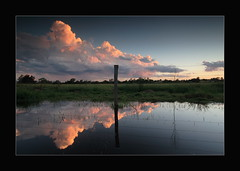 Solitude (Garry - www.visionandimagination.com) Tags: travel sunset storm reflection art nature water architecture clouds rural fence reflections landscape ilovenature bravo solitude oz churches australia explore australien aus romanesque reflexions australis garry australie waterlogged novideo firstquality vob mywinners abigfave  superbmasterpiece diamondclassphotographer megashot elitephotography theperfectphotographer visionandimagination wwwvisionandimaginationcom
