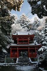 Morning Snow 朝雪 (Miko£aj) Tags: morning mountain snow japan temple hiroshima 日本 山 寺 雪 広島 朝